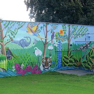 Bahçe duvar boyamaları