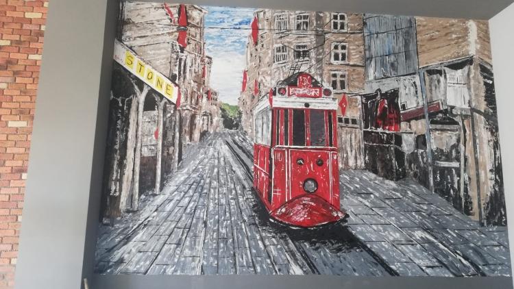 Duvar Resmi Boyama Sanati Ressam Mustafa Arslan